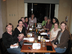 blogger group at dinner saturday night