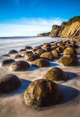 In the swell... (dezzouk) Tags: bowlingballbeach california lowtide schoonergulch