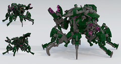 Harvestman (Garry_rocks) Tags: lego mecha hardsuit think tank hmmt