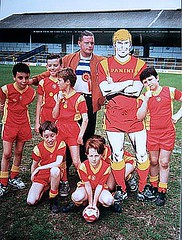 Roy with Gazza and the gang ...