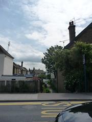 Alleyway in Whitstable 118 (tomylees) Tags: reflection car kent alleyway railings whitstable