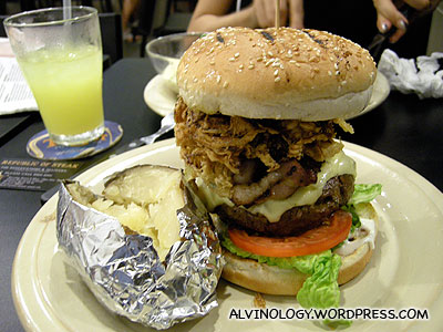 The gigantic Republic Burger which was really filling