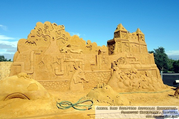 Annual Sand Sculpting Australia exhibition, Frankston waterfront-08