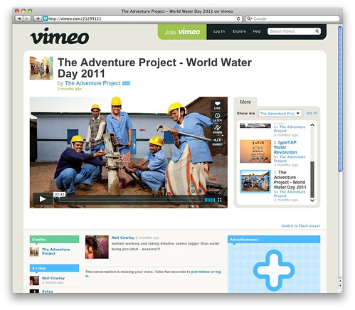 The Adventure Project - World Water Day 2011 on Vimeo