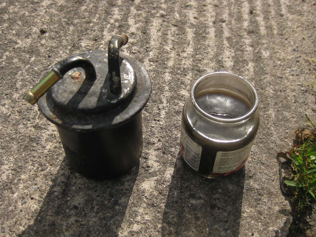 Fuel filter change or dirty coffee?