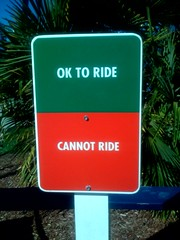 OK TO RIDE / CANNOT RIDE