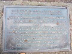 enchanted place plaque (zenitpetersburg) Tags: wood uk plaque forest place hundred pooh 100 winnie enchanted acre ashdown