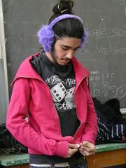 Fede ([banana]Lourien) Tags: pink school boy violet rosa viola fede scuola ragazzo earwarmers paraorecchie