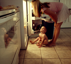 Cleaning out the fridge! (Gods Emerald - With Love Photography) Tags: reflection love interestingness fridge mikey explore