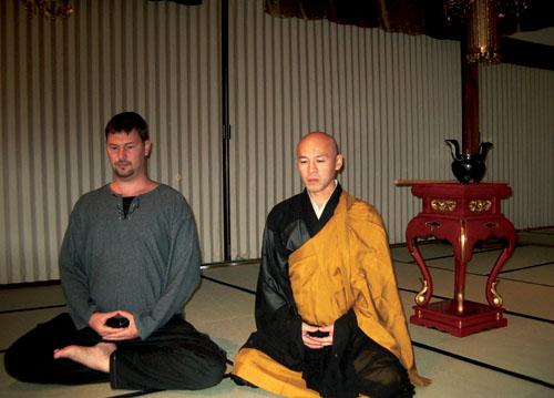 медитация с монахом