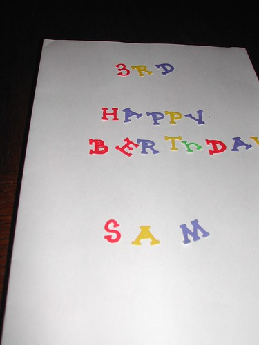 Josh made this for Sam