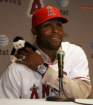 Torii Hunter and Rally Monkey by hogwartsdropout.