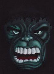 Airbrush Hulk Face (Marius Mellebye / 276ccm) Tags: light black green art face norway paper norge sketch scary paint drawing teeth cartoon drawings ixus unfinished draw hulk lys maling airbrush 2007 iwata skisse norsk grnn skygge custompaint holbein lakk lakkering 276ccm uferdig hpcs iwatahpcs