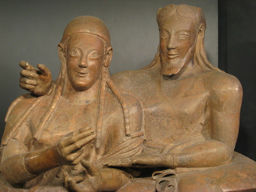 "Etruscan sarcophagus of ""the Married Couple"""
