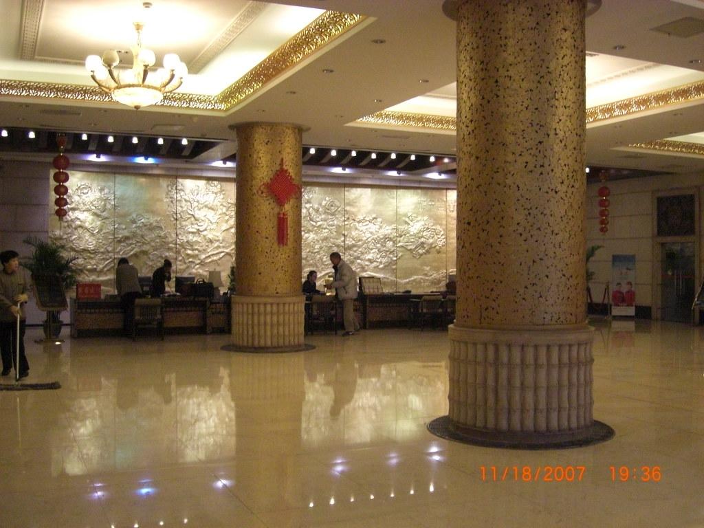 CIMG0855: Our hotel lobby
