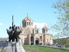Equestrian statue of Zoravar Antranik (nersess) Tags: sculpture church monument statue cathedral kirche caucasus armenia yerevan equestrian armenianchurch kaukasus kaukaz antranik andranik  zoravarantranik