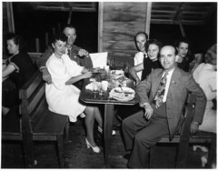 good times, 1940s, scene 2 (freeparking :-|) Tags: party arizona men phoenix vintage fun restaurant women coke 1940s americans cokebottles