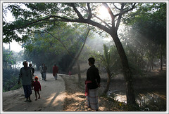 Waiting Ahead [..Chuadanga, Bangladesh..] (Catch the dream) Tags: life road street morning people sun rural dawn village streak walk bongo beam beginning journey sunburst rays bengal bangladesh bangla bengali bangladeshi bangali chuadanga catchthedream gettyimagesbangladeshq2