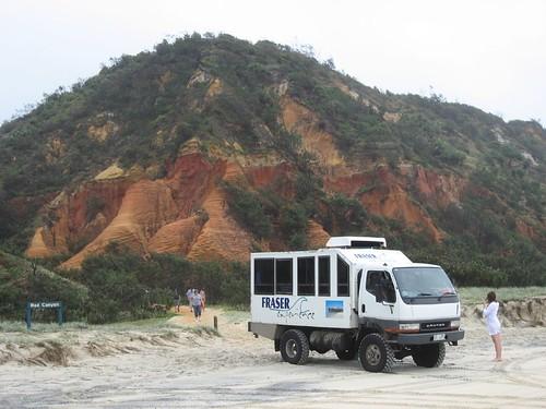 Pit stop on Fraser Island