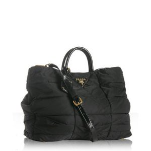 Bluefly - - #2127537 - Prada black quilted nylon large tote