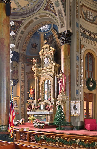 Saint Joseph Shrine, in Saint Louis, Missouri, USA - Mary's altar