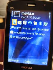 Nokia N96 screen
