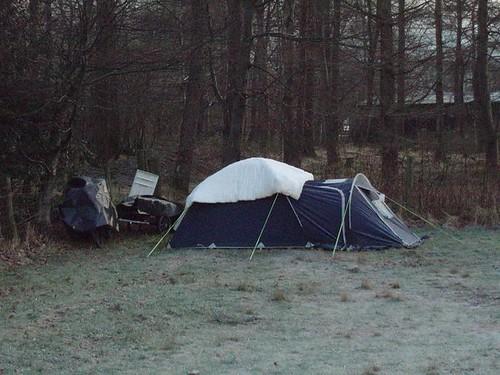 A Duvet on a Tent
