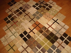 Isotaupe (part of the quilt laid out)