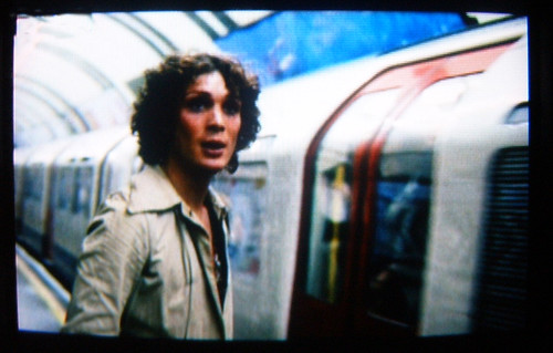 Cillian Murphy missing a Tube train