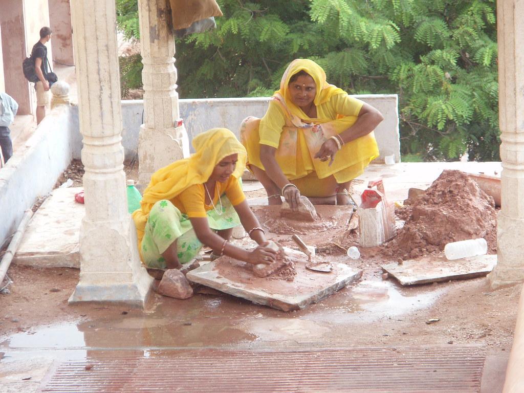 Trabajadoras hindúes en el Amber Fort