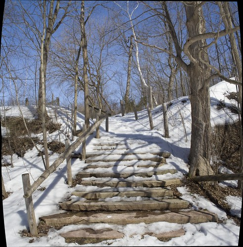 Stairs in winter