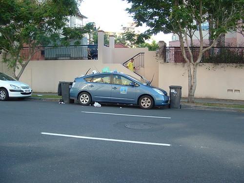 Trashed Prius
