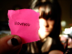 those three words,   #500 in explore, hahah (ashley rose,) Tags: macro love pen writing exposure dof bokeh finger postit explore note iloveyou written explored ashleyrose ashleyrosex