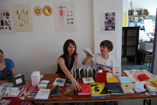 action shot, artists book fair