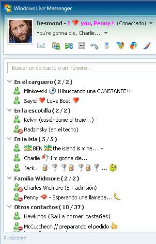 MSN messenger de Desmond