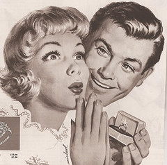yeah wedding ring (puke).jpg (by golly molly) Tags: vintage magazine 1940 ephemera colliers 1950