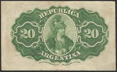 Argentina - P 229 (2) 20 centavos (1895) (NoeCR) Tags: serie1895segundaedición argentina banknotes repúblicaargentina suramérica bradbury bradburywilkinsonandcompany papelmoneda notafilia worldpapermoney