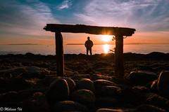 You are my sunshine (Melissa Ila) Tags: sunset sun clouds cloudscape beach ocean rocks frame sundown sunshine sky horizon orange blue light water outdoor dusk serene nikon seascape color