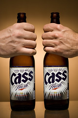 135|365 Cass Beer ~ Random (Greg Samborski) Tags: cactus portrait hairy beer contrast self canon eos hands kiss warm greg hand bottles flash saturday daily fresh days 350 warren 365 canon50mmf18 southkorea cass 2009 fists productshot koreanbeer beerad okpo geoje gyeongsangnamdo mekju strobist vivitar285hv ebaytrigger diygridspot largebottle browngel 3652009