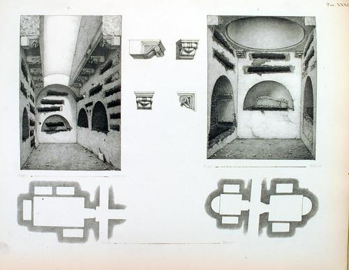 023- Esquema de cubiculos-La Roma sotterranea cristiana - © Universitätsbibliothek Heidelberg