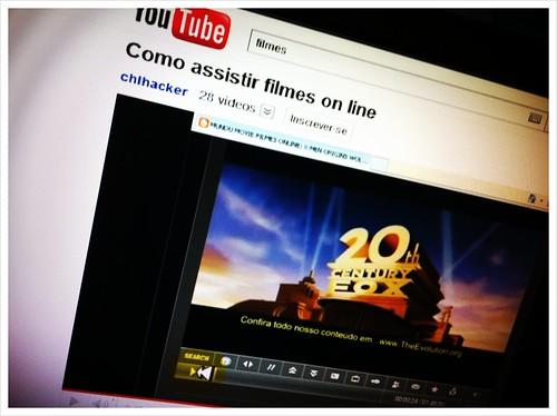 Filmes no YouTube, preparando post no @avidaquer