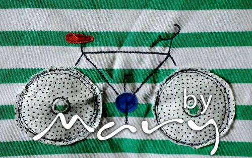 Applique t-shirt with bike