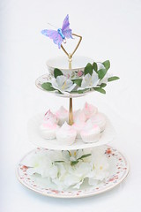 Three tiered pink flowers tea stand by The Mad Planter (themadplanter) Tags: pink flowers roses turquoise teacups teapot royalwedding cupcakestand jeffwagner vintagechina cakeplate vintagewedding jewelrystand 3tieredstand tidbittray themadplanter teastands teacuptoppedteastand wagnerevents threetieredteastand weddingteastand teapotteastand tidbithardware lorrinwagner themadplanterllc handmadeteastand threetieredstand tieredcupcakestand placardholder weddingfavorholder lorrinoskerson royalthemedwedding