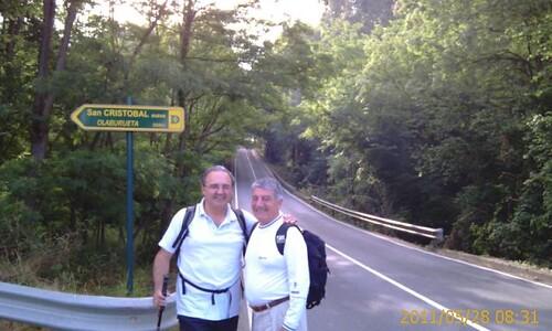 Txema y Paulino al comienzo de la etapa by LaVisitaComunicacion