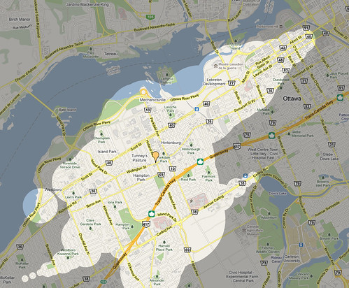 Mapnificent Ottawa - Dynamic Public Transport Travel Time Maps for Ottawa - Mozilla Firefox 05062011 23448 PM