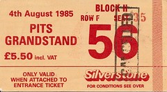 British Grand Prix Silverstone (davekpcv) Tags: bike price geotagged tickets ticket racing grandprix silverstone motorcycle motogp 1985 56 motorrad 2011 grandsprix inflationrate