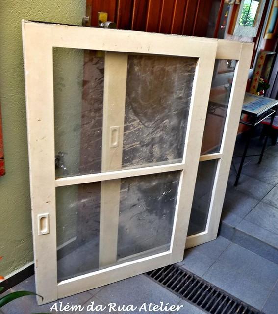 janelas de demolição que achei na caçamba