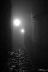 Dracula's street (Renmarc) Tags: bw white black fog night mono flickr favorites medieval bn explore more views sicily faves nebbia vicolo favs bianco nero notte erice trapani mistery monocrome bwemotions interestingess bwdreams fivestarsgallery renmarc thechallengefactory
