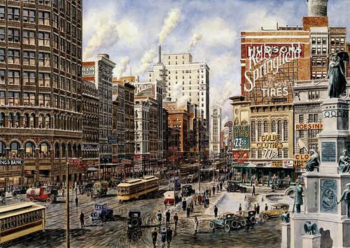 Detroit;-Woodward-Ave;1920