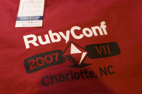 RubyConf shirt